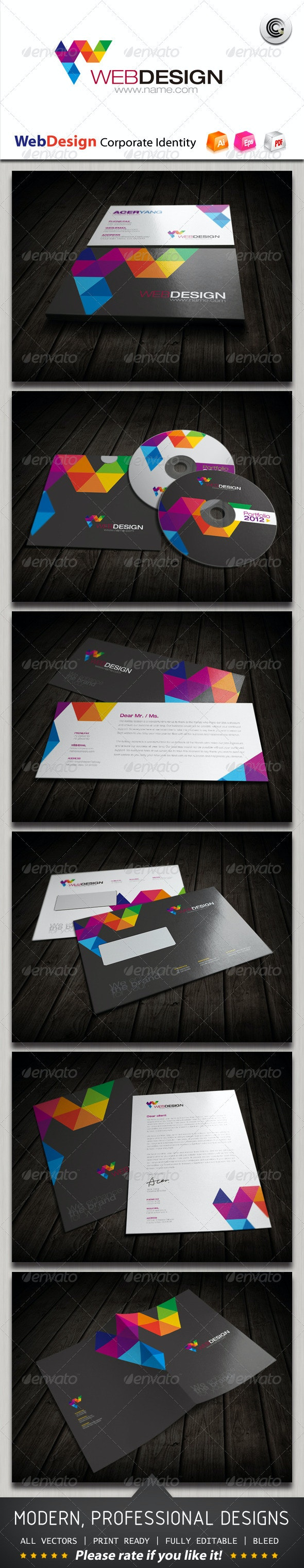 Web Design Corporate Identity - Stationery Print Templates