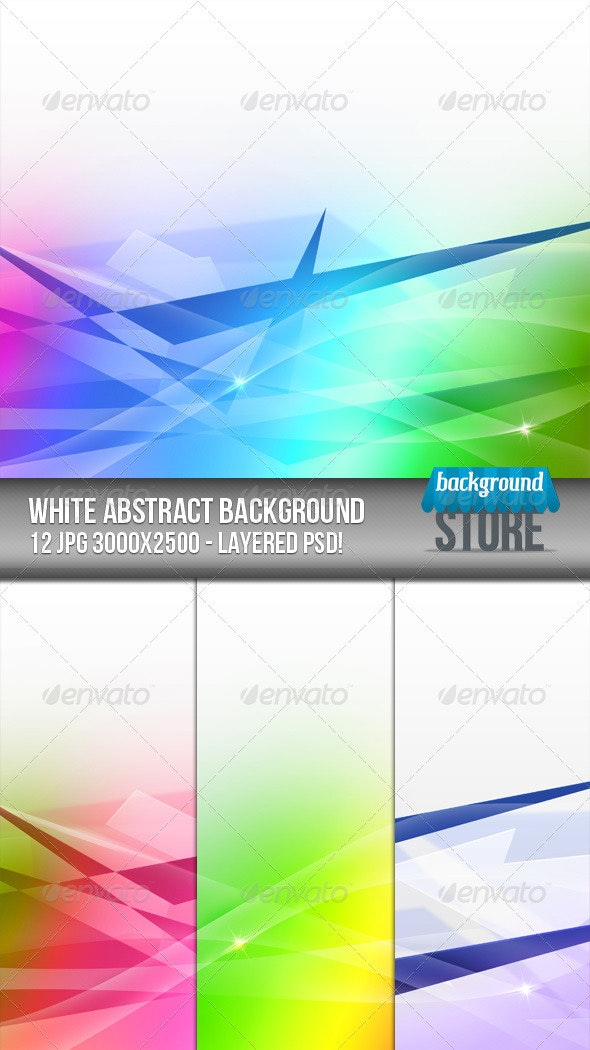 White Abstract Background - Abstract Backgrounds