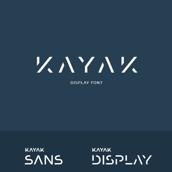 Kayak Display Font