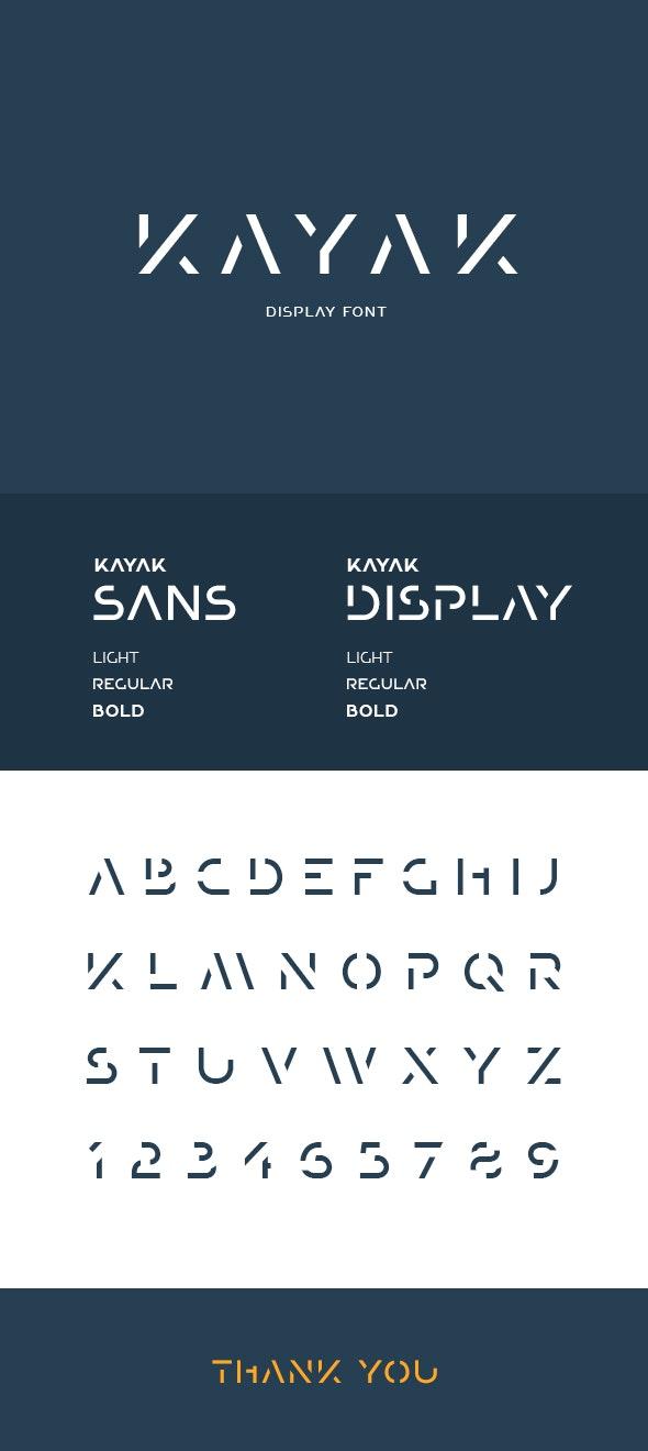 Kayak Display Font - Futuristic Decorative