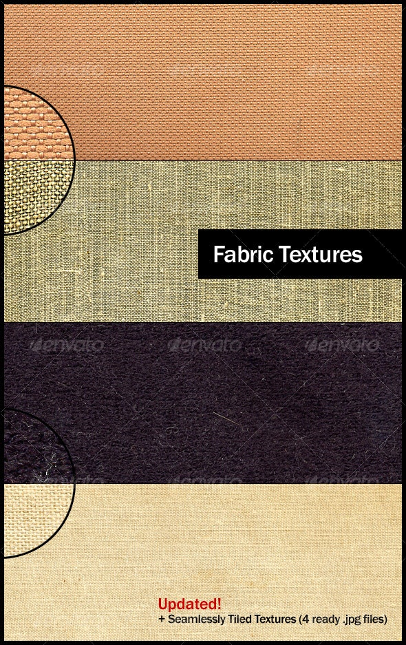 4 Small Grain Fabric Textures - Fabric Textures