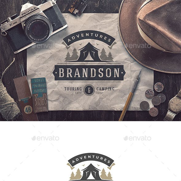 Vector Logo for Touring and Camping Agency
