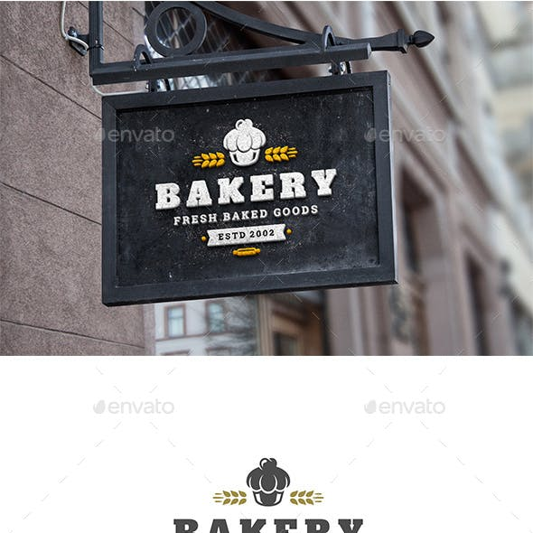 Bakery Shop Logo Design Template