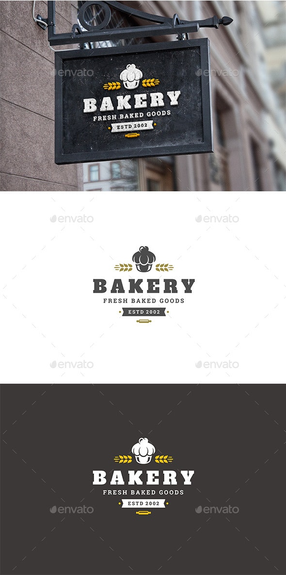 Bakery Shop Logo Design Template - Food Logo Templates
