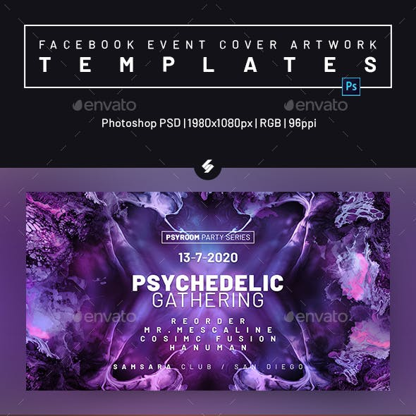 Electronic Music Party 31 – Facebook Event Cover Templates