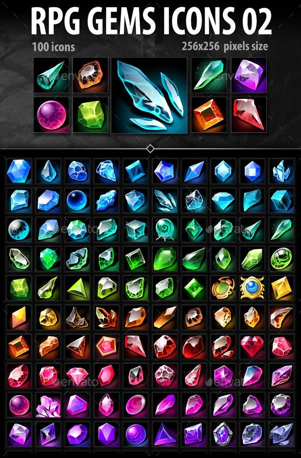 RPG Gems Icons 02