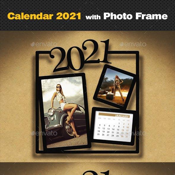 Customizable Calendar 2021 Photo Frame V05