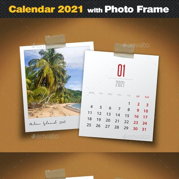 Customizable Calendar 2021 Photo Frame V04