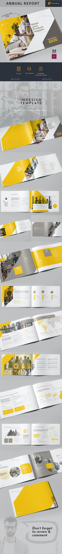 Annual Report 2020 Landscape - Brochures Print Templates