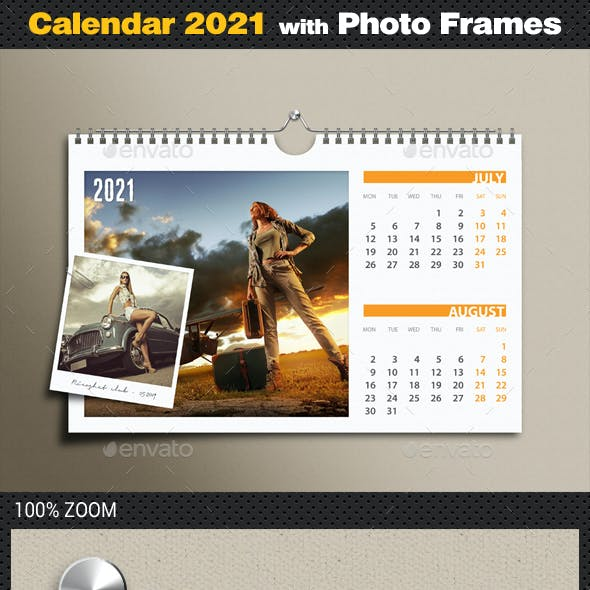 Customizable Calendar 2021 Photo Frame v02