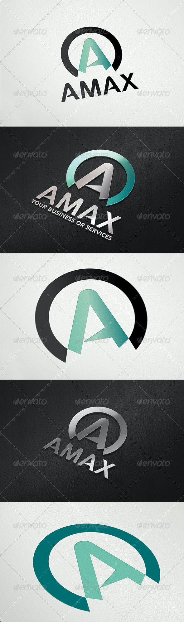 Letter A Aka AMAX Logo - Letters Logo Templates