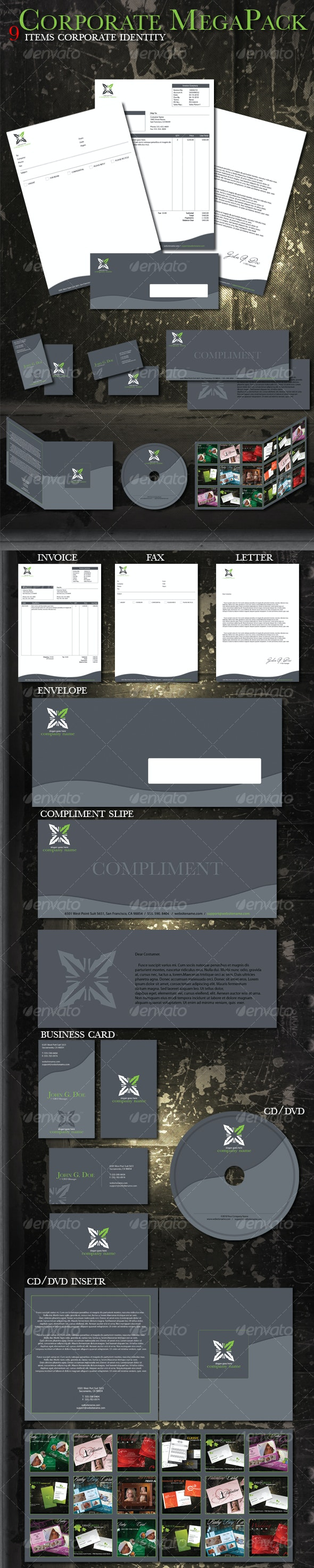 Corporate Mega Pack - Stationery Print Templates