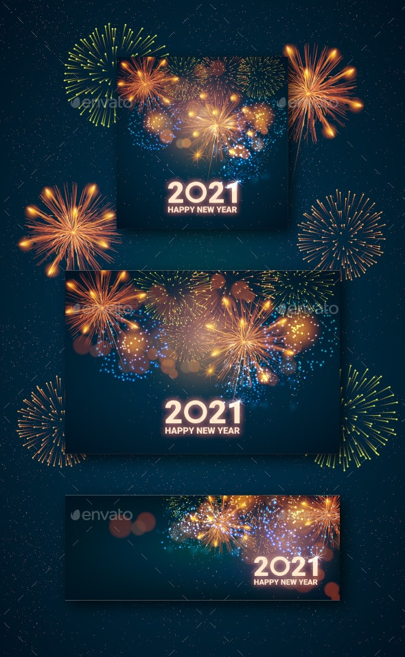 Greeting Card Happy New Year 2021 by java86 | GraphicRiver
