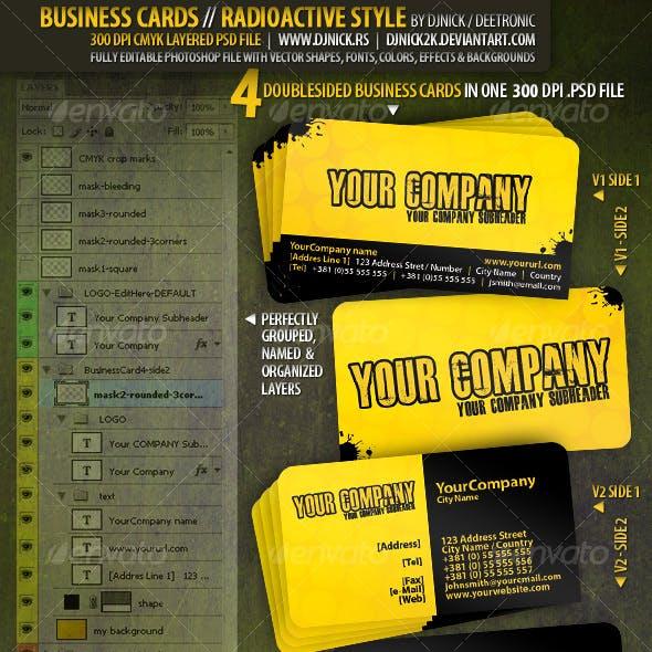 Radioactive Business Cards 300 dpi CMYK by djnick