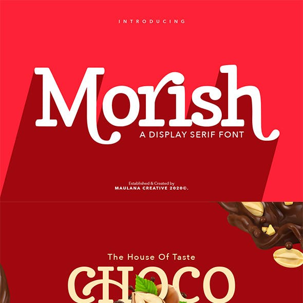 Morish Display Serif Handmade Font Ligature Type
