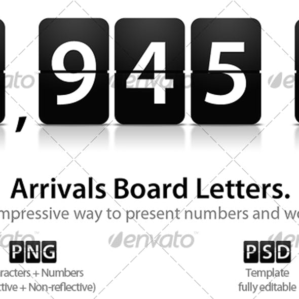 Arrivals Board Letters