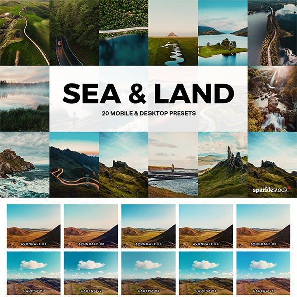 20 Sea & Land Lightroom Presets and LUTs