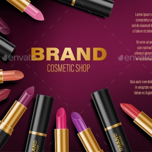 Colorful Lipstick Ads Fashion Poster Design By Sergey985 Graphicriver
