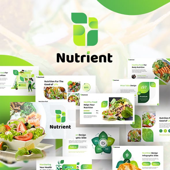 Nutrient Healthy Food Presentation Template