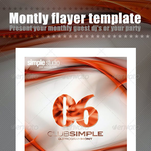 Monthly Flayer Template