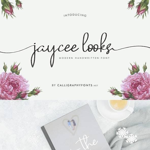 Jaycee Looks Handwriting