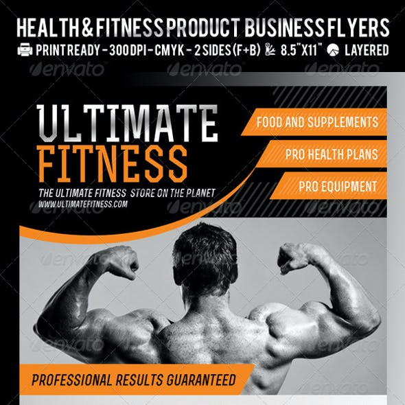 Ultimate Fitness or Product Flyer PSD Template