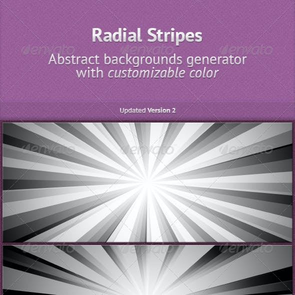 Radial Stripes BGs Generator