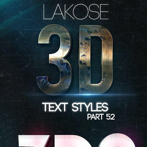 Lakose 3D Text Styles Part 52