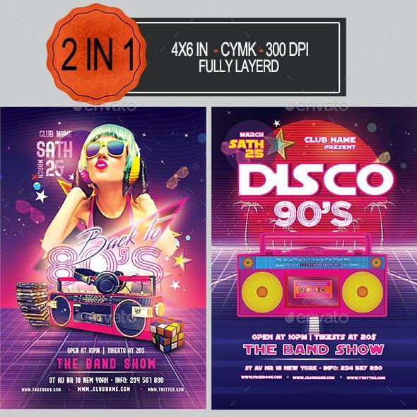 80's 90's Flyer Bundle