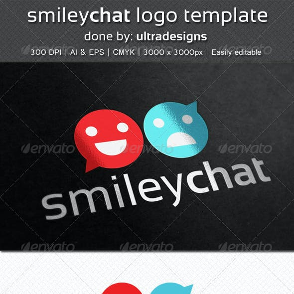 SmileyChat Logo Template
