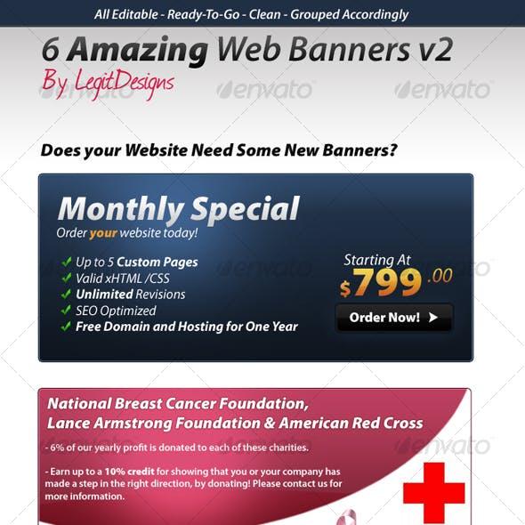 6 Web Banners v2