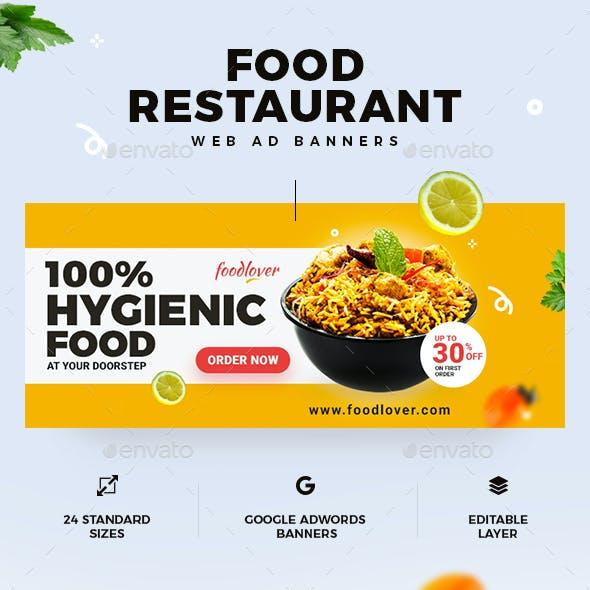 Food & Restaurant Web Ad Banners