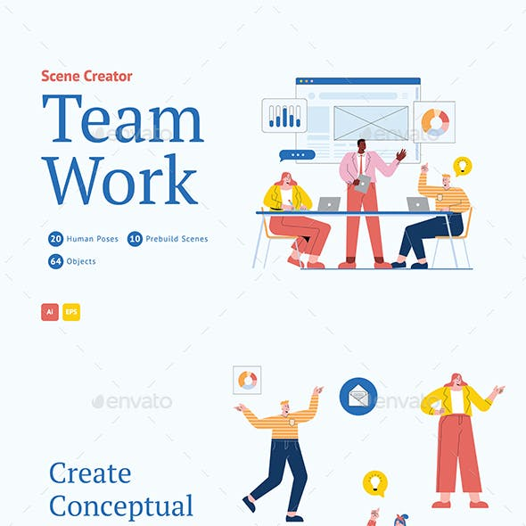 Team Work Scene Creator