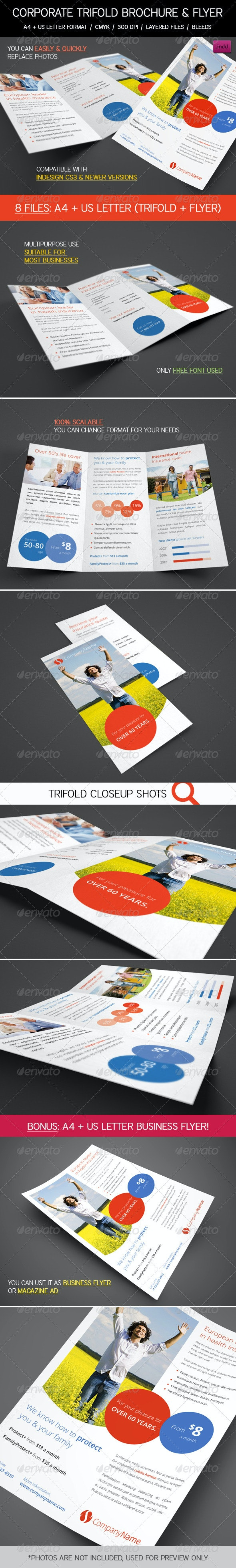 Clean Corporate, Business Trifold & Flyer Pack - Corporate Flyers