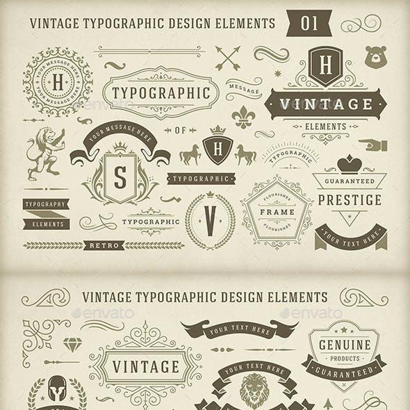 Vintage Typographic Design Elements