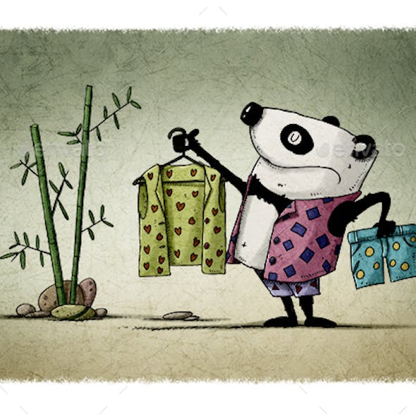 Panda is Choosing Other Clothes to Change