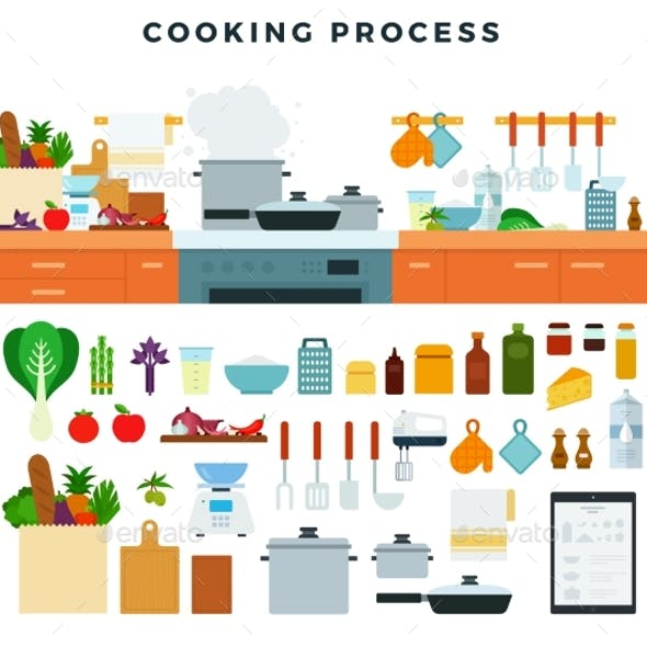 Collection of Kitchen Utensils, Appliances