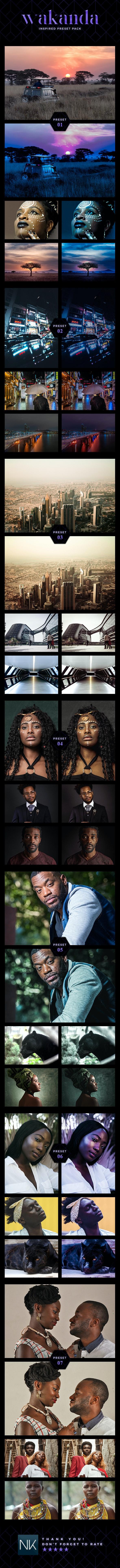 7 Cinematic Lightroom Presets - Wakanda Inspired Pack (+ Mobile Version) - Lightroom Presets Add-ons