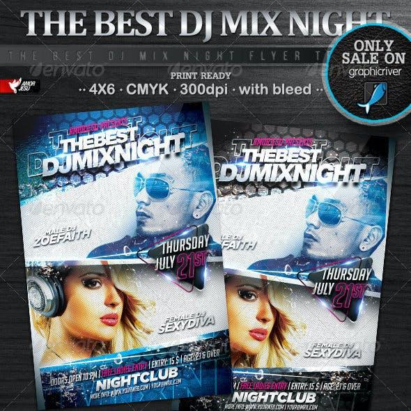 The DJ Mix Night Flyer Template