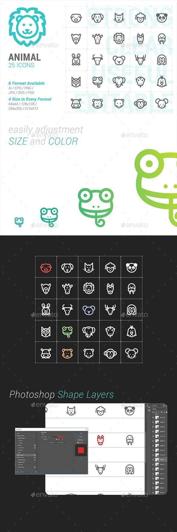 Animal & pet Mini Icon - Animals Characters