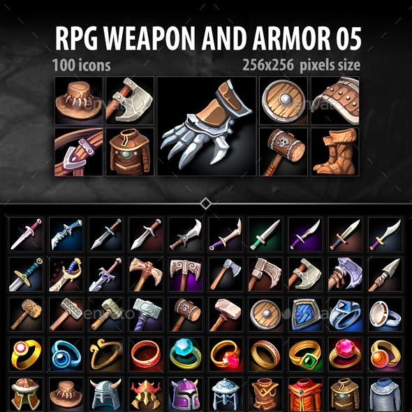 RPG Weapon and Armor 05
