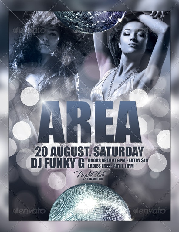 Area Flyer Template - Clubs & Parties Events