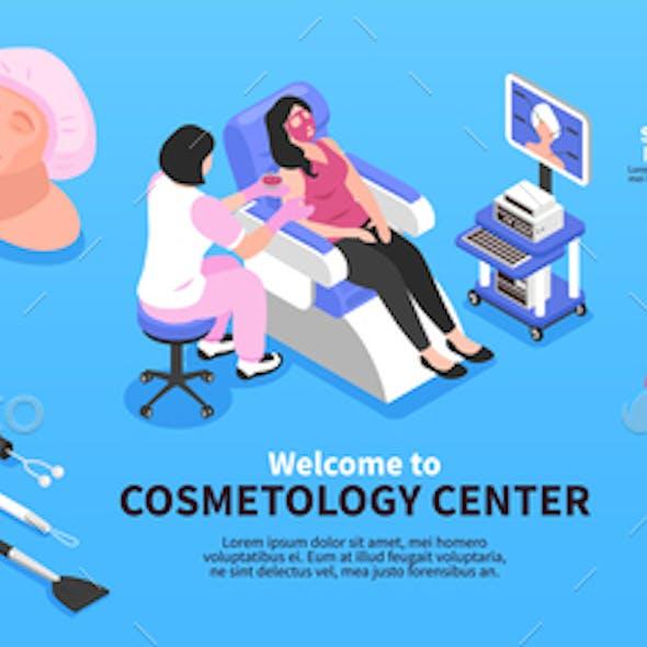 Isometric Cosmetology Center Infographics
