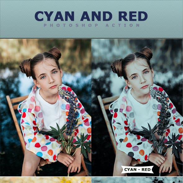 Cyan And Red Photoshop Action