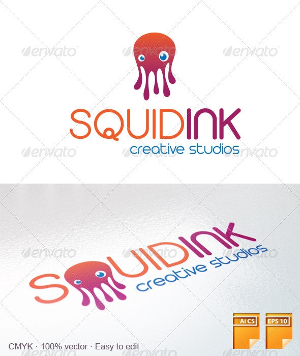 Squid Ink Logo - Animals Logo Templates