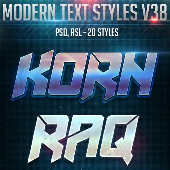 Modern Text Styles V38