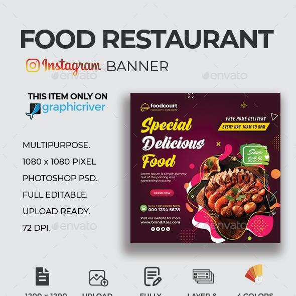 Food Restaurant Instagram Banner