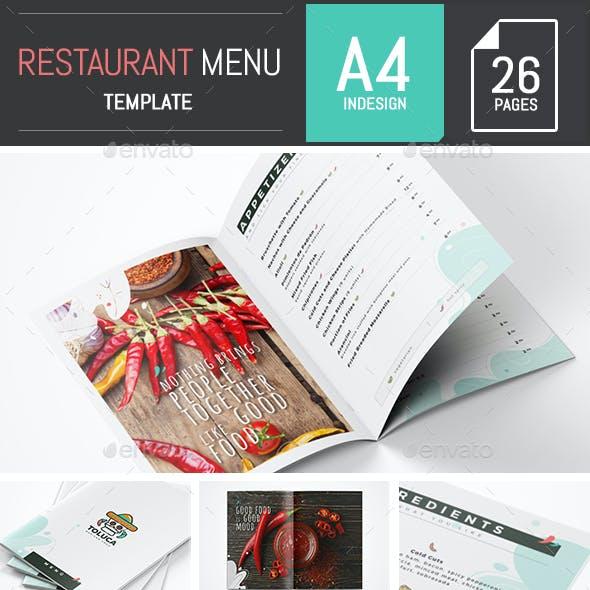 Mexican Restaurant Menu A4 - InDesign