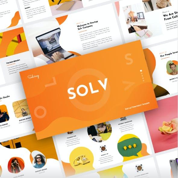 Solv - Startup Business Keynote Presentation Template