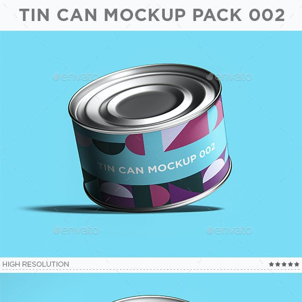 Tin Can Mockup Pack 002